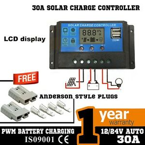 30A 12V-24V LCD DISPLAY PWM SOLAR PANEL CONTROLLER & TIMER PWN Hope Valley Tea Tree Gully Area Preview