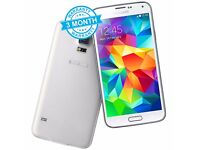 Samsung Galaxy S5 G900F White 16GB Unlocked Mobile Phone Smartphone A+ Condition