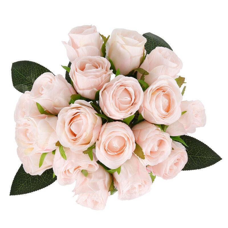 18-Köpfe Seidenblumen Kunstblumen Künstliche Blumenstrauß Floristik Blumen