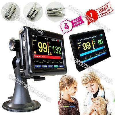 Vet Veterinary Pulse Oximeter Touch Patient Monitor Blood Oxygen Tongueear Spo2