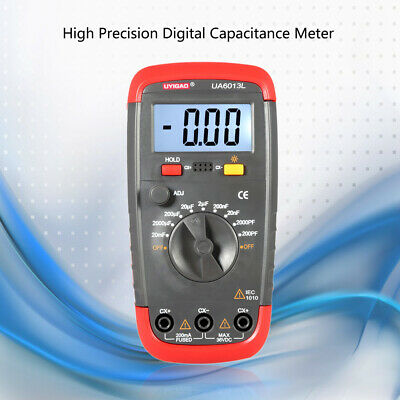 Digital Capacitor Capacitance Tester Meter Lcd Backlight Date Hold Ua6013l M4j9