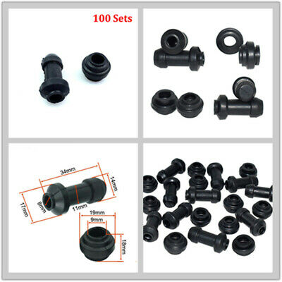 100 X BLACK MOTORCYCLE BRAKE ACCESSORIES BRACKET RUBBER RING DISC DUST