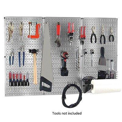 """NEW 32"""" x 48"""" Metal Pegboard Garage Tool Wall-Organizer Storage-Kit Board Hooks"""