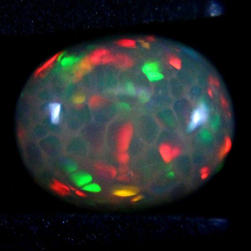 1.46 ct Finished Ethiopian Opal Gemstone 10x8x3 mm - Exact Lot Shown op1932