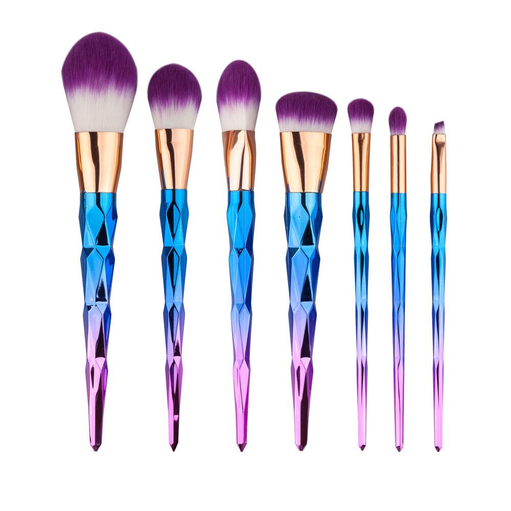 10pcs Kabuki Style Make Up Brushes Set Foundation Blusher Powder Makeup Brush Uk