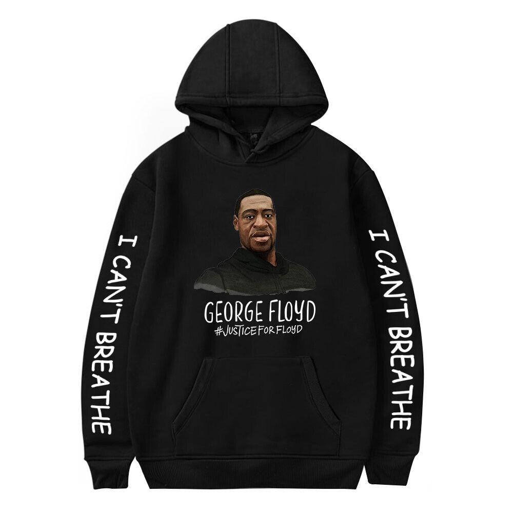 Black Lives Matter George Floyd I Can't Breathe Hoodie Sweater Sweatshirt Jumper Activewear