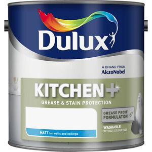Dulux Kitchen+ plus Matt Emulsion Paint - Natural Calico - 2.5L - Free Delivery
