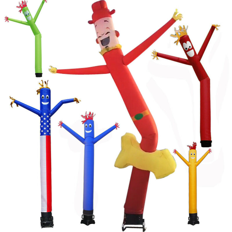 20FT 6M/ 10FT 3M Inflatable Advertising Air Wind Tube Puppet Sky Wavy Man Dancer