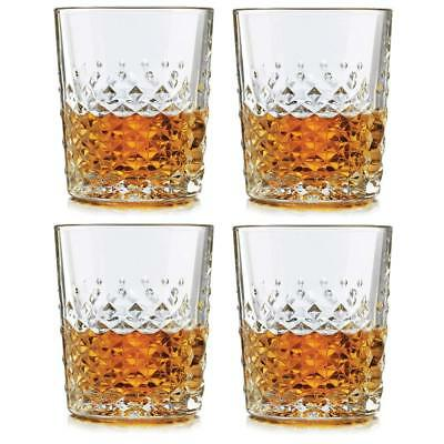 SET OF FOUR (4) LIBBEY DOUBLE OLD-FASHION GLASSES MADE IN USA 12 OZ GLASS NEW! 12 Oz Double Old Fashion
