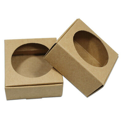 Kraft Paper Round Hollow Out Brown Box For Handmade Soap Craft Diy Gifts Packing