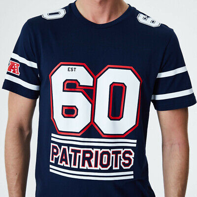 New Era Men's NFL New England Patriots Team Established Number Navy & White Tee