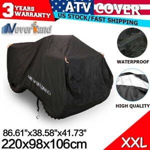 XXL Waterproof ATV Cover Storage Fit Polaris Honda Yamaha Can-Am Suzuki Kawasaki