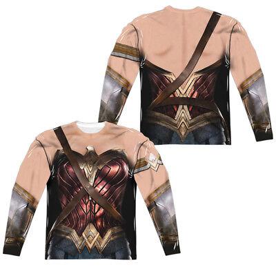 JUSTICE LEAGUE MOVIE WONDER WOMAN COSTUME Men's Long Sleeve Tee Shirt SM-3XL