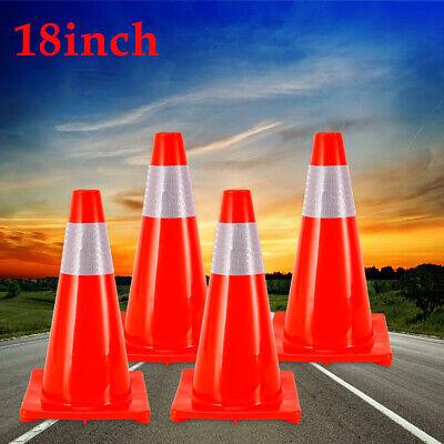 Traffic Safety Mark Cones18 Cones In Fluorescent Orangereflective Collar 4pcs