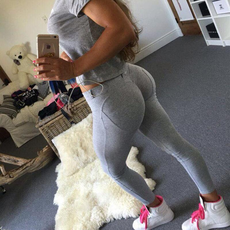 Leggings - Sexy Women's Butt Lift Yoga Pants Hip Push Up Leggings Fitness Workout Stretch