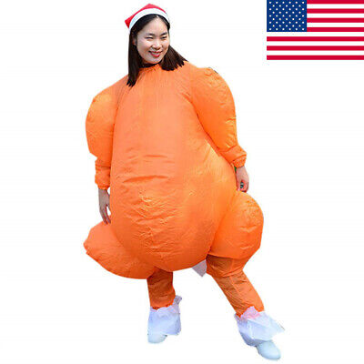 Inflatable Chicken Costume (Inflatable Turkey Costume Funny Thanksgiving Blow Up Mens Womens Chicken)