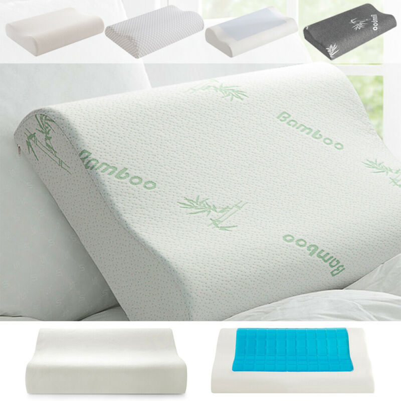 Memory Foam Pillow Cooling Gel Orthopedic Breathable Bed Pillow W/ Washable Case