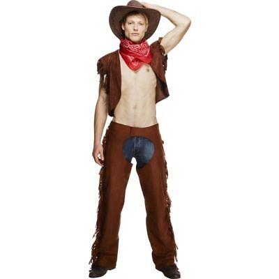 Smi - Western Herren Kostüm sexy Rodeo Cowboy Karneval Fasching (Herren Rodeo Cowboy Kostüm)