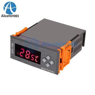Stc-100 12v Lcd Temperature Controller Thermostast Alarm Sensor 2 Relay