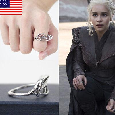 USA Halloween Game Of Thrones Targaryen Daenerys Ring Dragon Mother Jewerly Gift](Game Of Halloween)