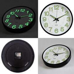 Wall Clock 12 Inch 30 CM Luminous Glow In The Dark Quartz Bedroom Watch Living