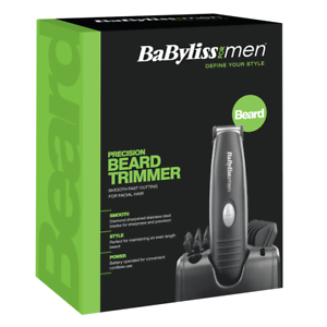 BaByliss 7107U Beard & Moustache Trimmer Battery Operated Clipper