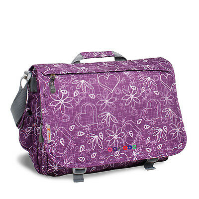 Jworld Laptop Messenger Bag Love Letter Purple