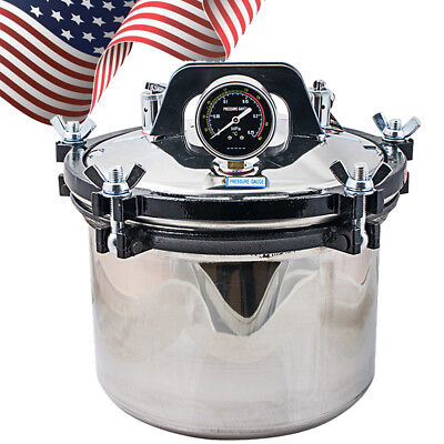 Usa Portable 8l Pressure Steam Autoclave Sterilizer Dental Medical Sterilization
