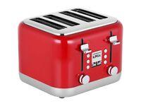 Kenwood TFX750RD KMIX 4 Slice 1800W Toaster Red NEW