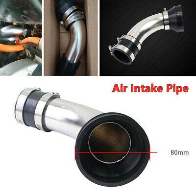 48MM Motorcycle Air Intake Pipe Carburetor Air Pod Filter Curved Tube Cleaner