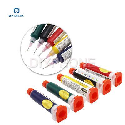 10ml Pcb Uv Curable Solder Mask Repairing Paint Green Black Yellow Red Blue