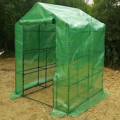 8 Shelves Greenhouse Portable Mini Walk In Outdoor courtyard Green House 2 Tier