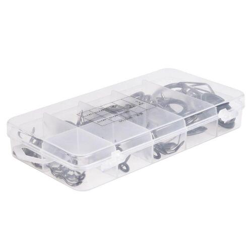 75//80Pcs Rod Guide Eyes Repair Kit Set Tip Plus Boxed Sets Wire Loop Fishing Rod