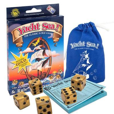 Yacht Sea Dice Game The Classic Five Dice Game with a Nautical Twist Made in USA