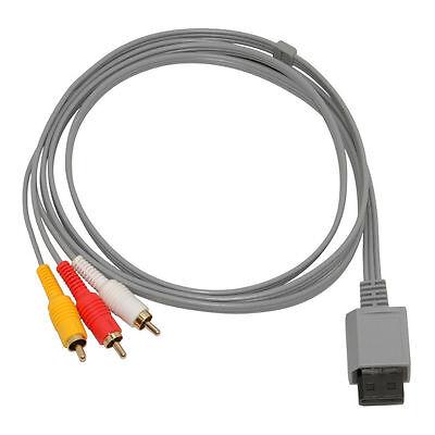 AV TV Audio Kabel 3 Chinch Scart Kabel für Nintendo Wii mit Vergoldete Kontakte