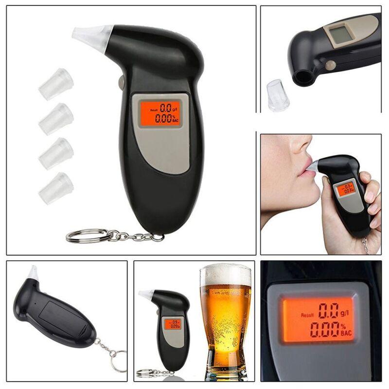 1x Pro Convenient Anti-drunk Driving Backlit Display Digital LCD Alcohol Tester-