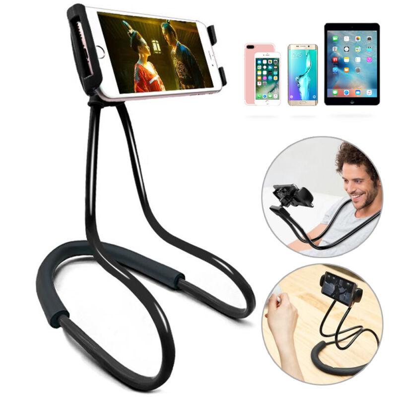 Handy Halterung Nackenhalter Drehbarer Halter Universal Smartphone Handy Ständer