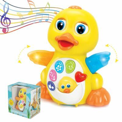 ToyThrill Duck Toy - Best Musical Baby Toys for 1 Year Old Girl & Boy,