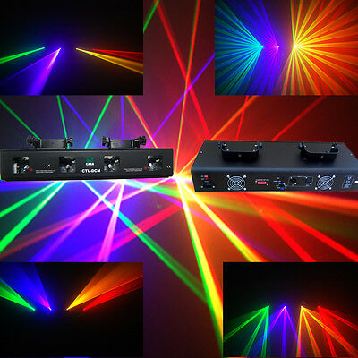 RGYV 4  Lens 360mW DMX DJ  Laser Stage Light  Club Party Lighting projector Show