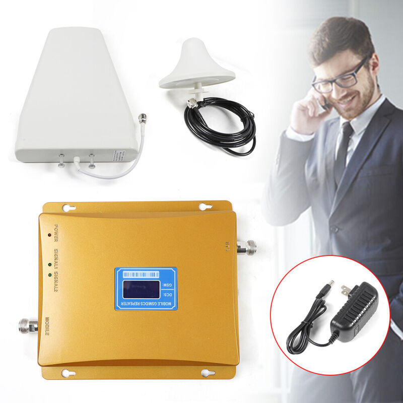 AC110V Cell Phone Signal Amplifying Enhancer With 3m Indoor Ceiling Antenna New!