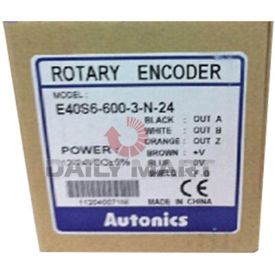 New In Box Autonics E40s6-600-3-n-24 Incremental Rotary Encoder E40s66003n24 1pc