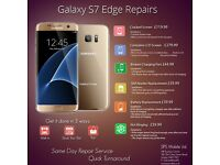 Samsung S7 Edge/S6/Edge/S5/S4/S3/ Note 4/3 LCD Touch Screen Digitiser Top Glass Replacement Service