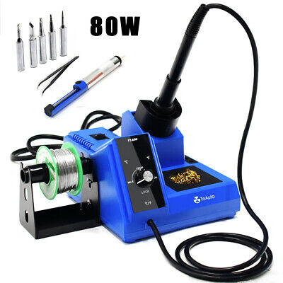 80w Electric Led Soldering Iron Station Kit Auto Sleep Adjustable Temperature