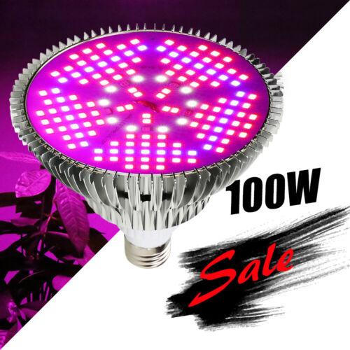 100W Full Spectrum LED Grow Light Bulb E27 150LEDs Lamp for