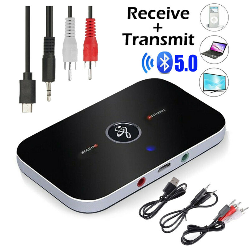 2in1 Bluetooth 5.0 Transmitter & Receiver Wireless Home TV Stereo Audio Adapter