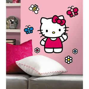 hello kitty giant wall decals new girls bedroom stickers decorations