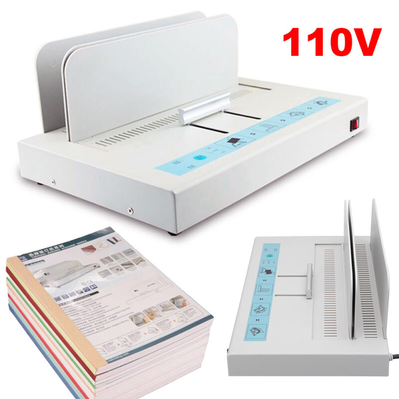 New A4 Size Electric Hot Melt Bookbinding Machine Thermal Book Binder 110V