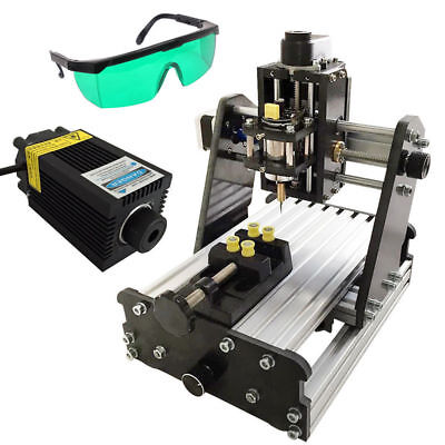 Diy Mini 3 Axis Cnc Router Wood Pcb Milling Engraving Machine500mw Laser Module