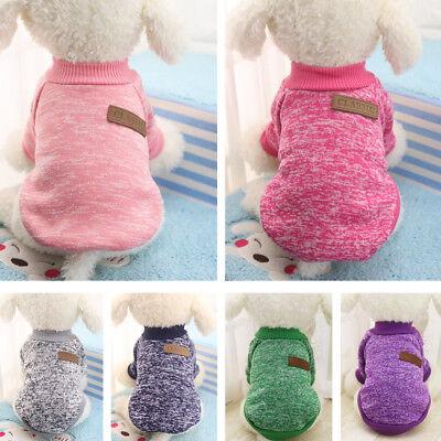 Dog Winter Warm Sweater Small Pet Coat Clothes Puppy Cat Jacket Apparel Custom