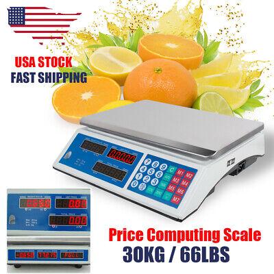 30kg Digital Price Computing Scale Price Computing Food Meat Produce Indutrial